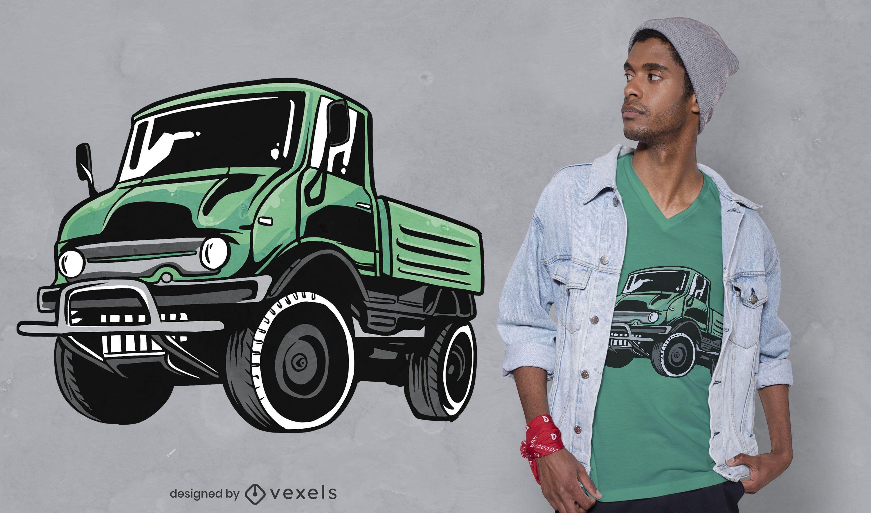 Green unimog t-shirt design