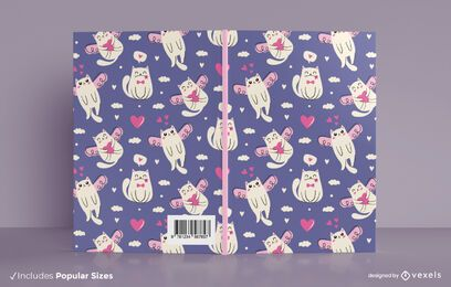 Valentine cats book cover design