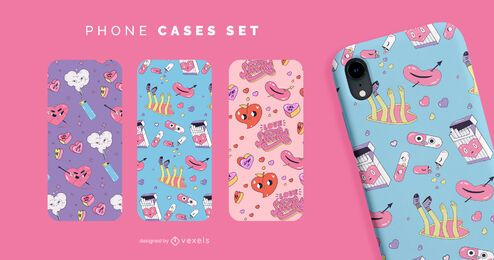Anti valentines funny phone cases set