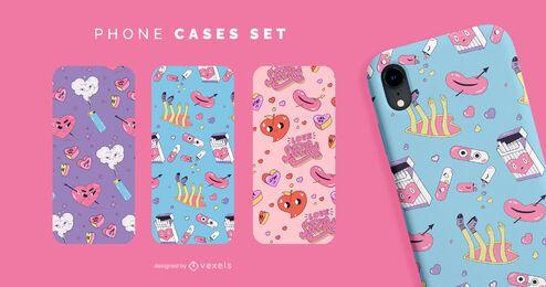 Anti valentines funny phone cases set