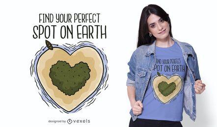 Design de t-shirt local perfeito