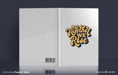 Diseño de portada de libro de cita retro