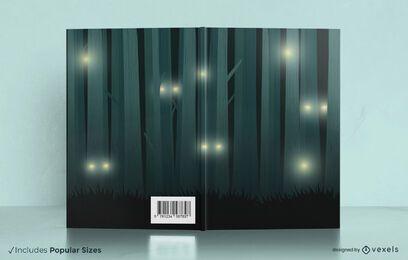 Design da capa do livro da noite da floresta