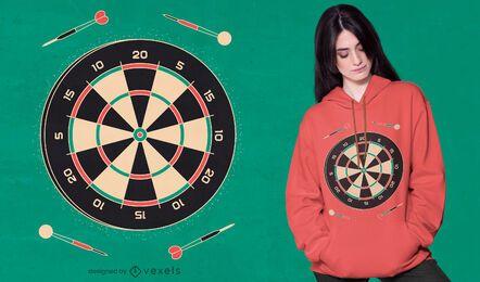 Diseño de camiseta de juego de dardos.