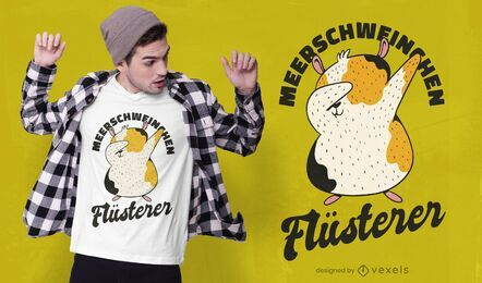 Design de t-shirt de porquinho da Índia