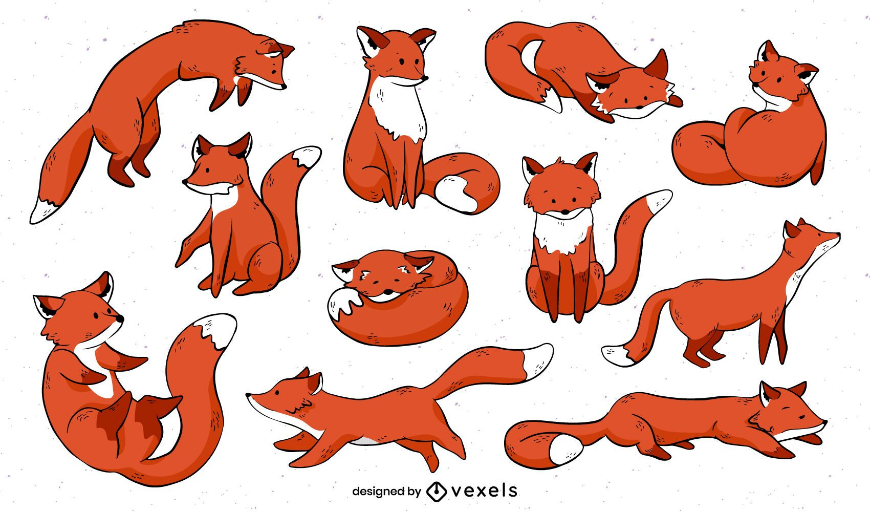 Desenho de cenografia de raposa fofa