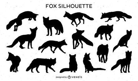 Fox Silhouette Sammlung
