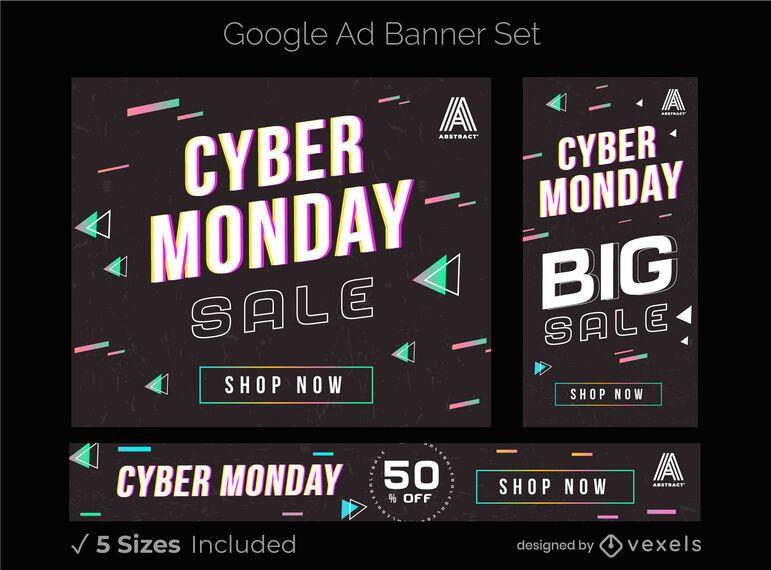 Cyber monday google ad banner set