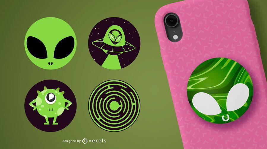Aliens popsocket set