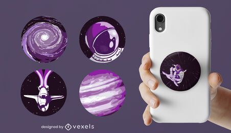 Outer space popsocket set