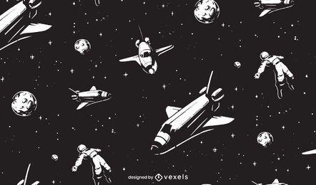 Design de padrão de espaço sideral