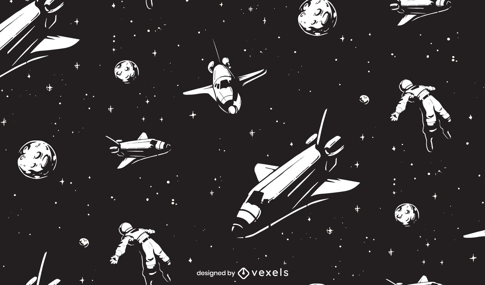 Outer space pattern design