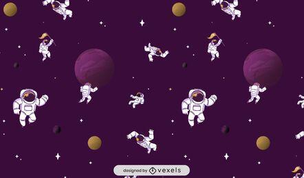 Diseño de patrón espacial de astronautas