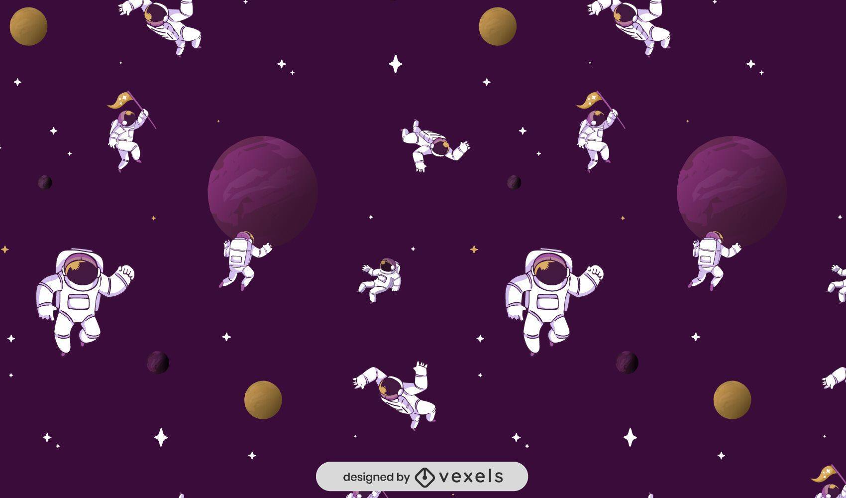 Astronauts space pattern design
