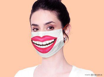 Diseño de máscara facial de sonrisa