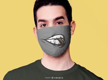 Diseño de mascarilla para fumar