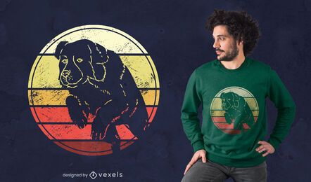 Diseño de camiseta Landseer Sunset