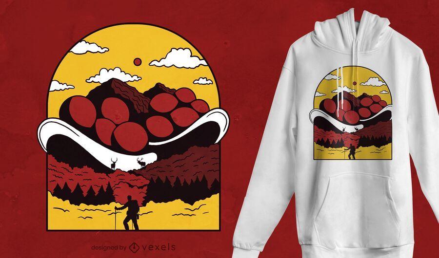Bollenhut mountain t-shirt design