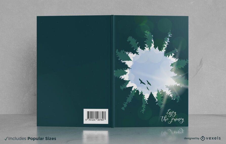 Aproveite o design da capa do livro da viagem