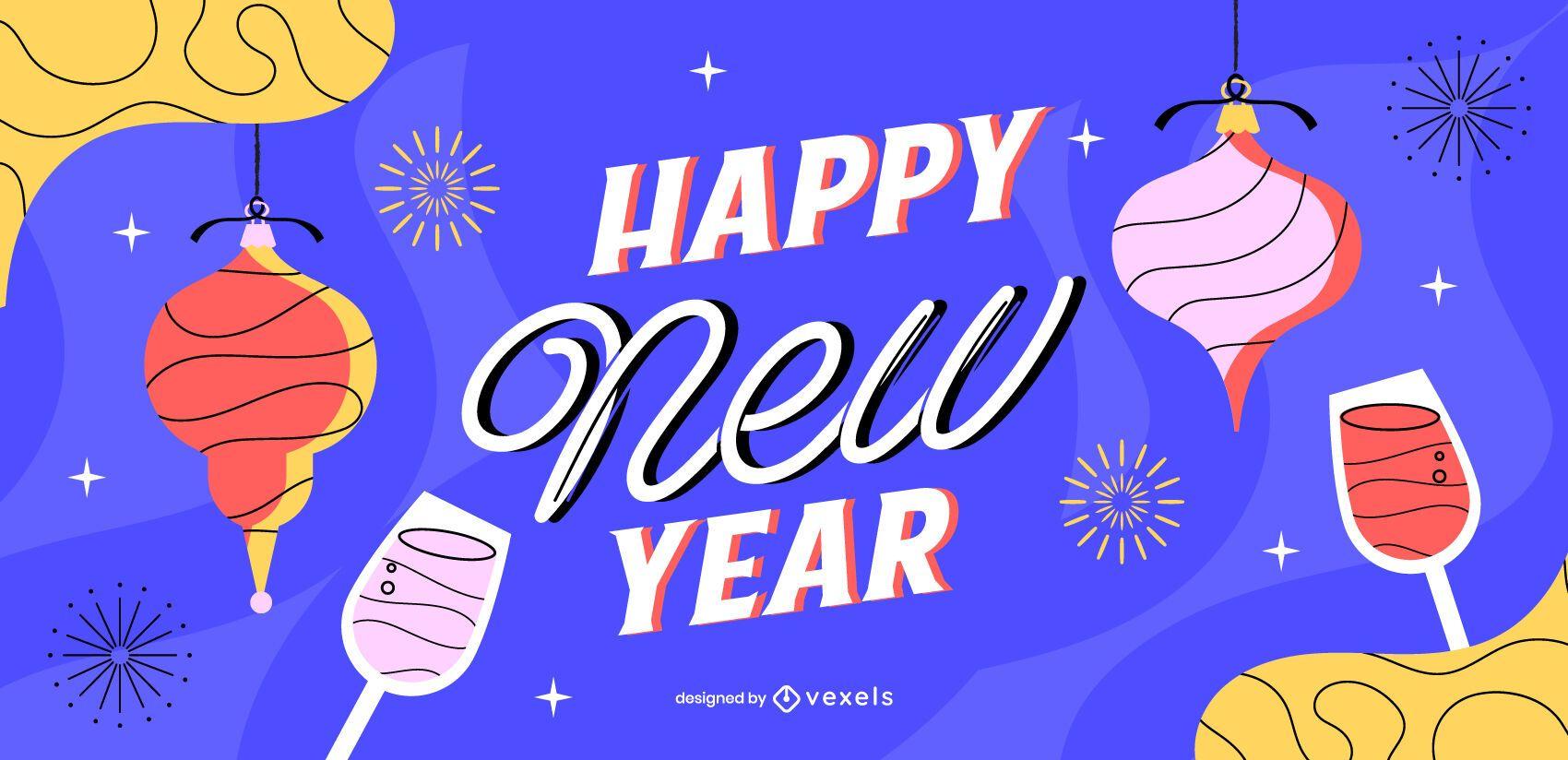 Happy new year slider design