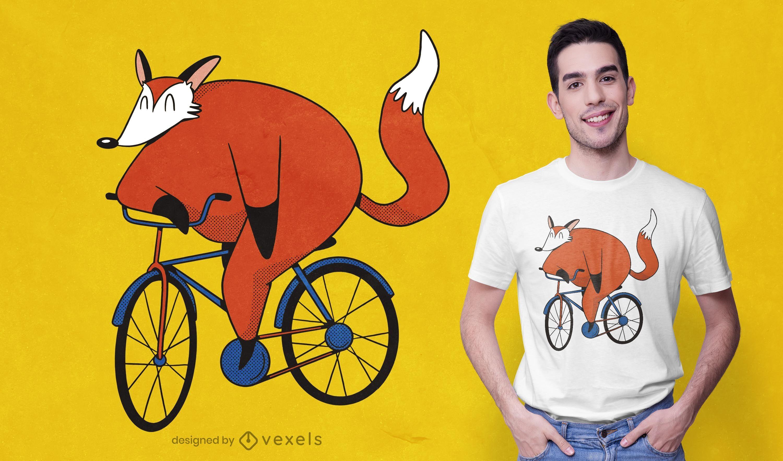 Design de camiseta para motoqueiros raposa