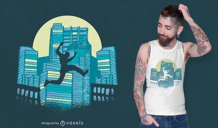 Diseño de camiseta parkour tracer