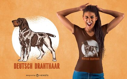 German Wirehaired Pointer dog t-shirt design