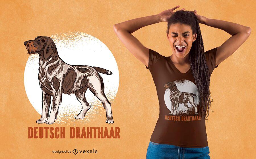 German Wirehaired Pointer dog t-shirt design