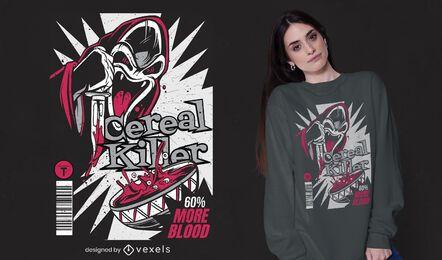 Diseño de camiseta de asesino de cereales
