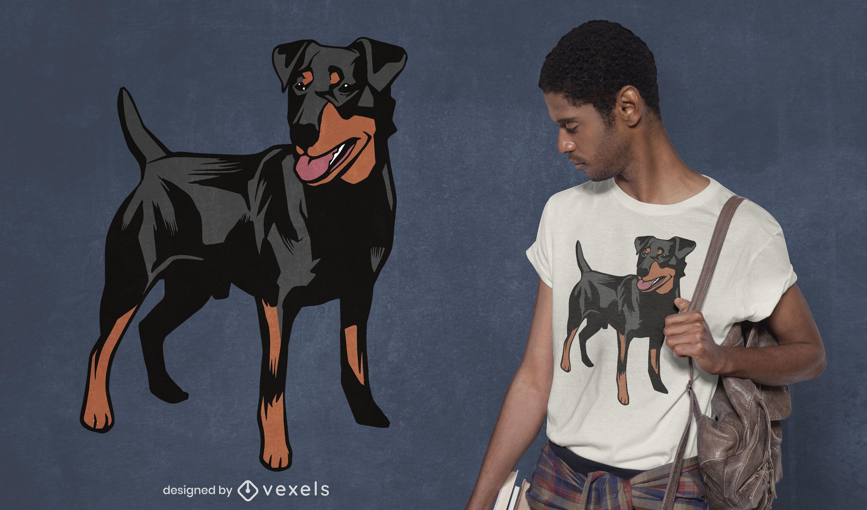 Design de camiseta de cão alemão