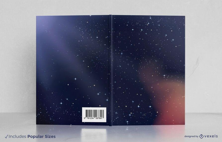 Design da capa do livro Galaxy