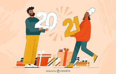 2021 desenhos de ilustração de personagens