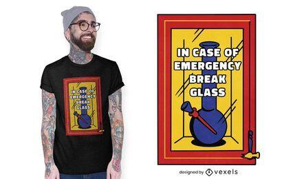 Diseño de camiseta de bong de emergencia.