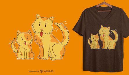 Diseño de camiseta de perros felices