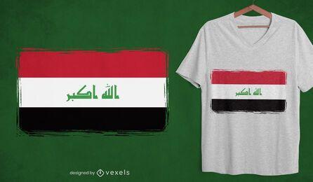 Diseño de camiseta de la bandera nacional de Irak