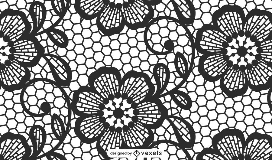 Black lace pattern design