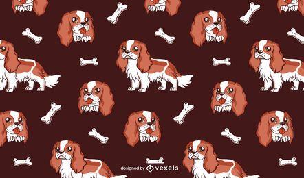 Desenho de padrão de cão cavalheiro