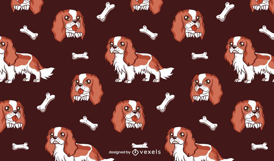 Cavalier dog pattern design