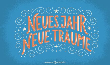 New year dreams german lettering