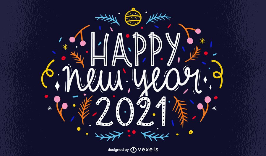 happy new year 2021 lettering design vector download happy new year 2021 lettering design