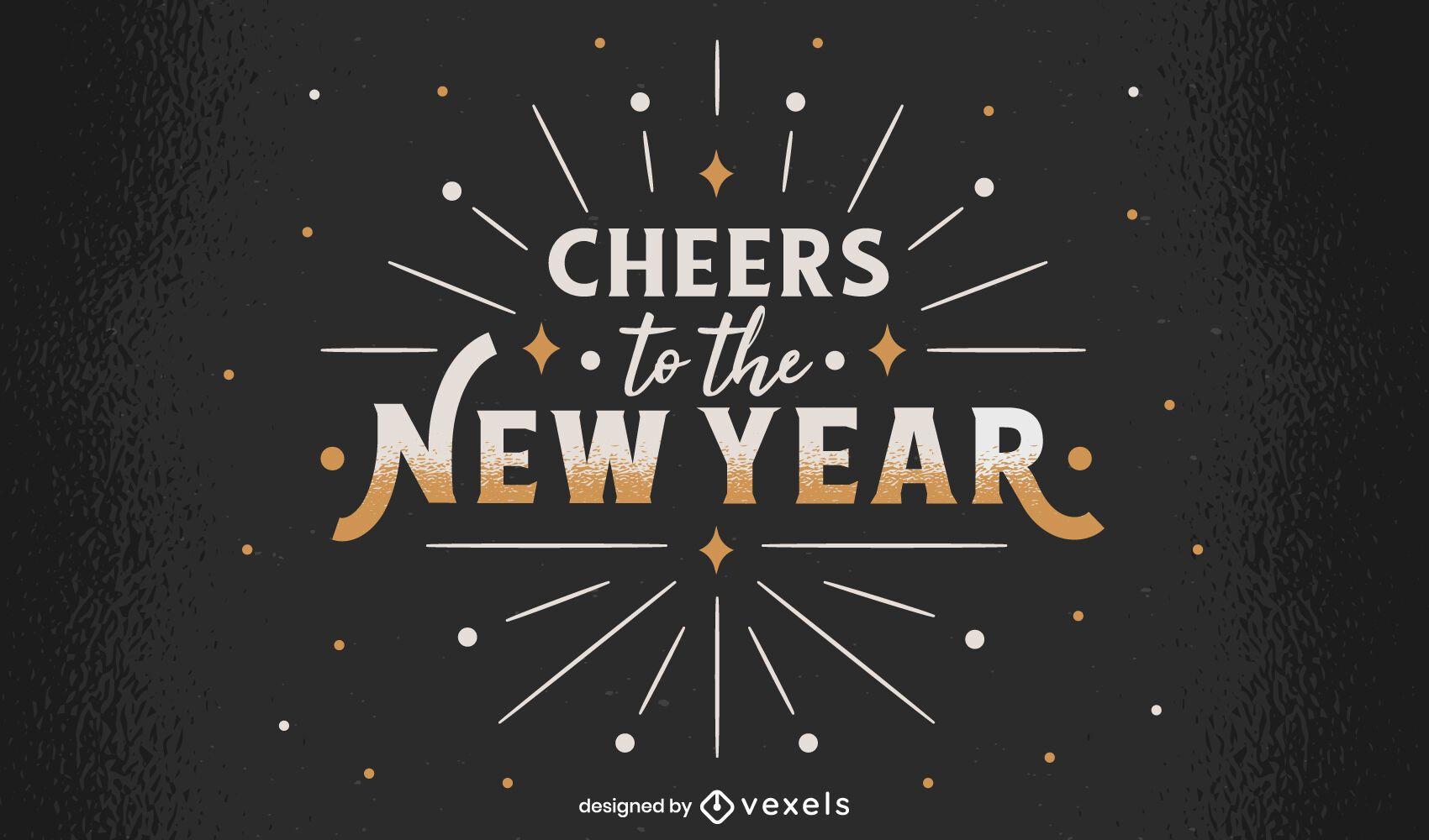 Diseño de letras año nuevo 2021