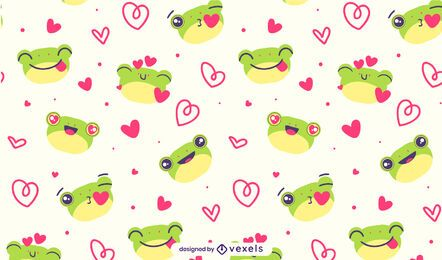 Cute frogs pattern design