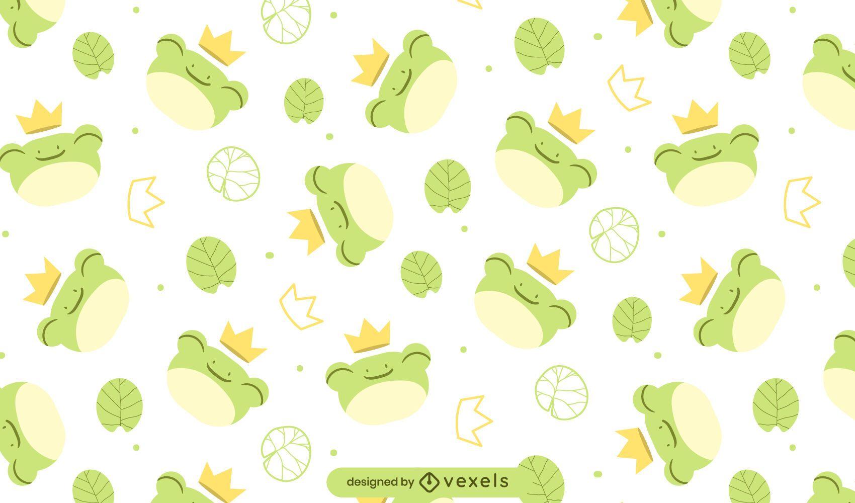 Diseño de patrón de ranas rey