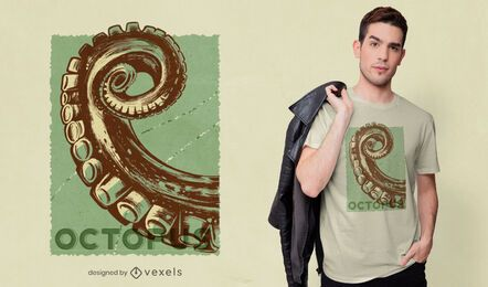 Diseño de camiseta de tentáculo de pulpo