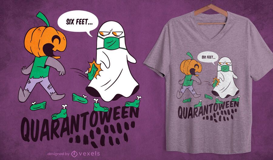 Design de camiseta Quarantoween
