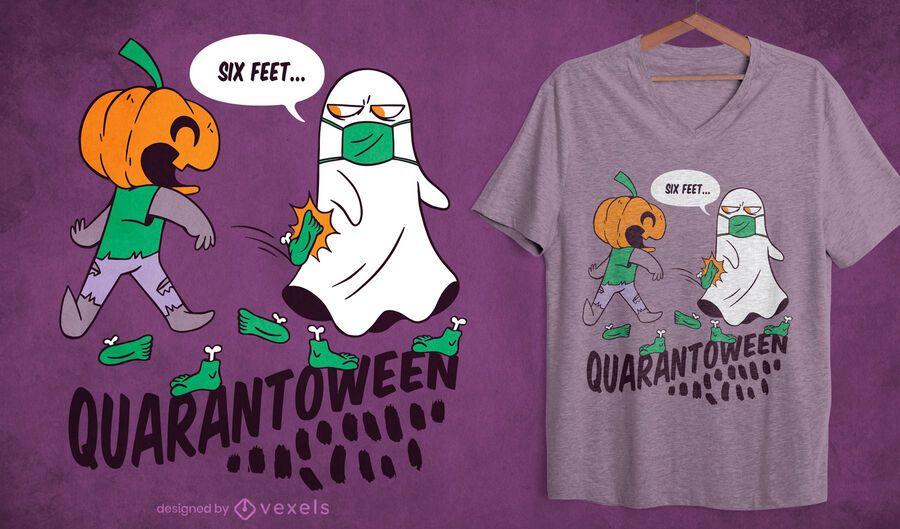 Diseño de camiseta Quarantoween