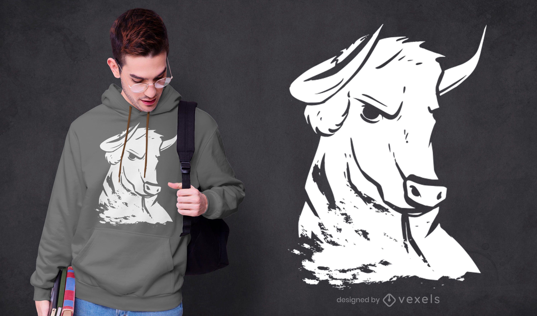 Strong bull t-shirt design