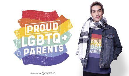 Diseño de camiseta de padres orgullosos