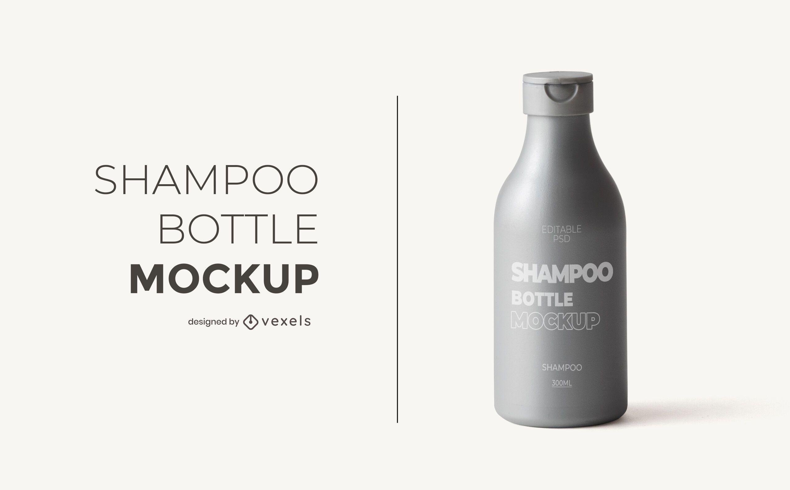Shampoo bottle mockup design