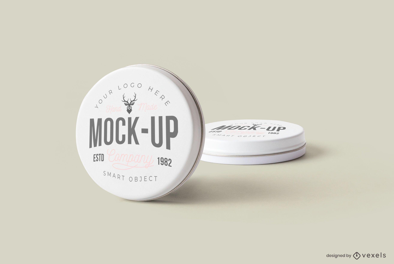 Tin can mockup design